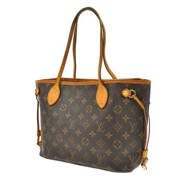 Authentic LOUIS VUITTON Neverfull PM Shoulder Tote Bag Monog